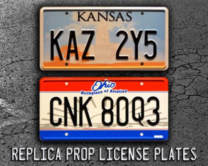 prop replica license plates Winchester brothers car