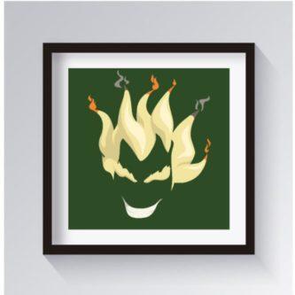 Junkrat wall art decor gamer gift idea