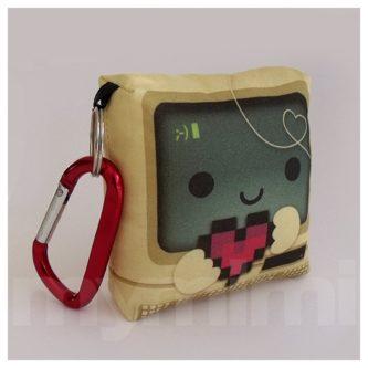 kawaii computer pillow keychain