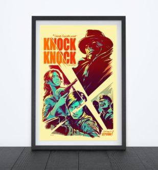 knock knock vintage movie style poster decor