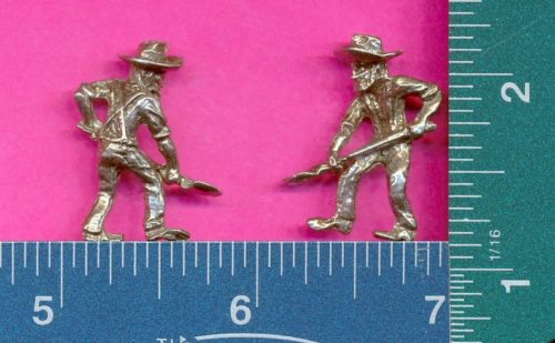 Lot of 20 Lead-Free Pewter Miniature Miner Figurines