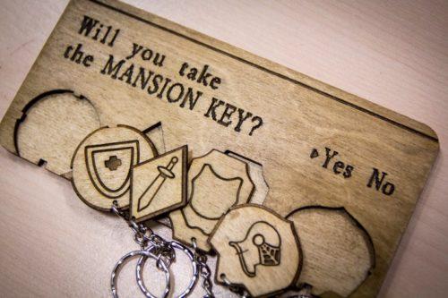 handmade mansion keyholder from Resident Evil 1