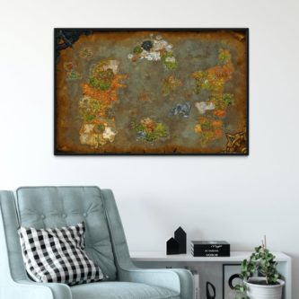 Map of Azeroth Poster