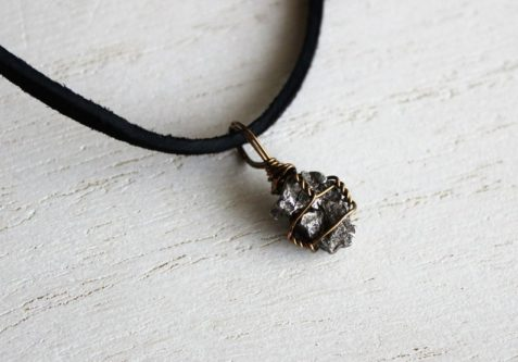 Meteorite themed necklace gift for her
