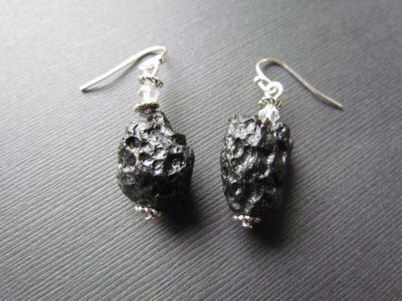 Meteorite earrings