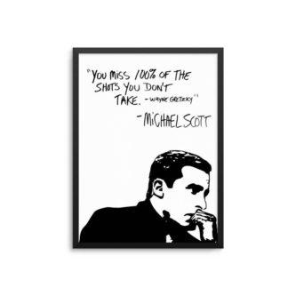 Michael Scott Wayne Gretzky Quote Poster