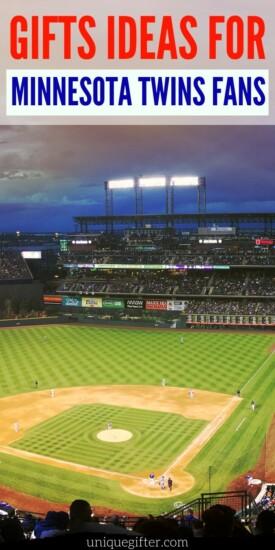 Minnesota Sports Gifts | Minnesota Twins Party | Minnesota Twins Gift Ideas | Baseball Fan Gift Ideas | Twins Gift Ideas | Sports Themed Gifts | #baseball #twins #minnesota #minnesotatwins