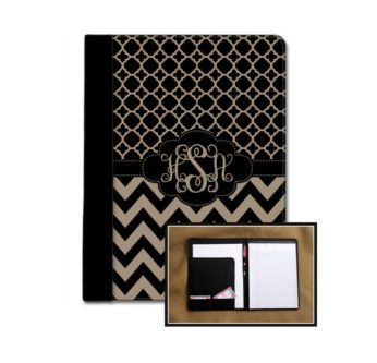 Monogrammed Notebook Case