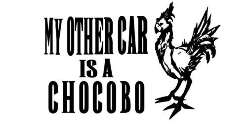 My Other Car is a Chocobo Decal
