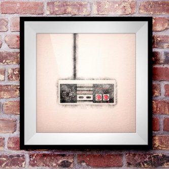 NES Controller Wall Art