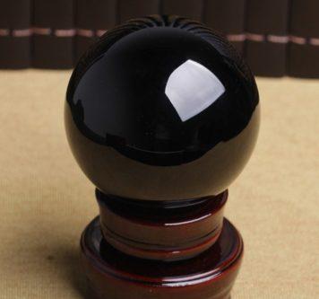 Natural Obsidian Sphere