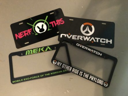 Overwatch liscence plate