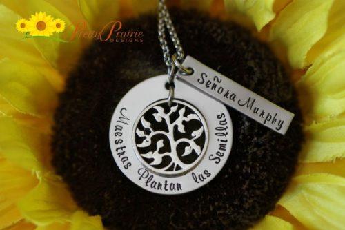 "Personalized ""Senora"" Necklace"
