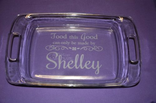 Personalized Engraved Casserole Dish