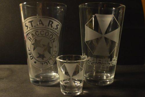 Resident Evil pub style glasses set