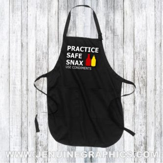 practice safe snax apron funny adult christmas gift