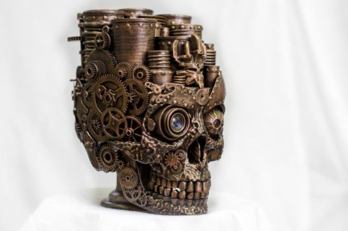 Fancy skull organizer cog wheels gear gifts