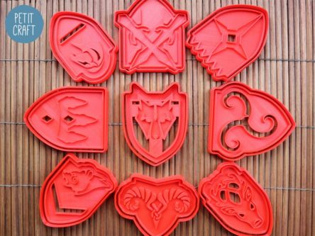 Skyrim town logo cookie cutter templates Gift Ideas for Skyrim Fans