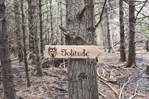 Solitude tree sign wooden handmade gift