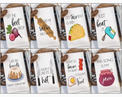 Song lyric kitchen towels funny stocking stuffer ideas for adults