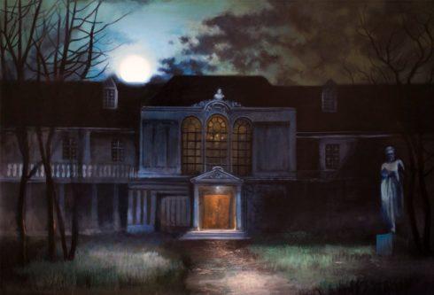 print of spencer mansion from Resident Evil 1