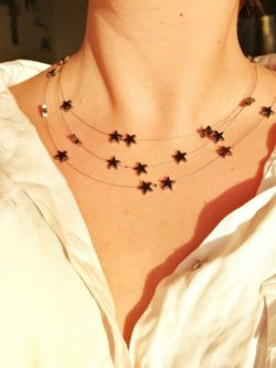 Star necklace space jewelry