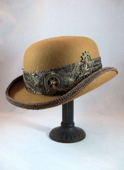 steampunk bowler hat cog design cosplay gift