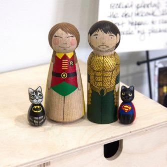 superhero family stacking dolls funny nerd christmas gift idea
