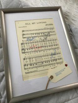 The Beatles Framed Sheet Music