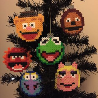 The Muppets Christmas Pixel Baubles - Gonzo