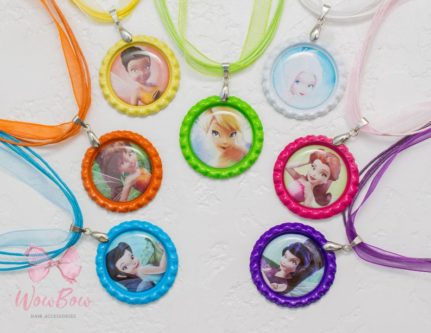 Tink and Friends Bottle Cap Necklaces