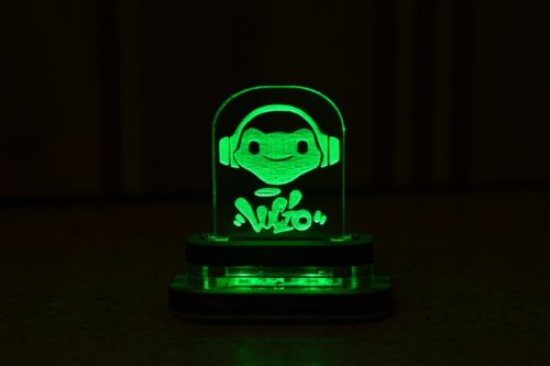 Tiny Lucio character face lamp