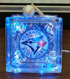 Toronto Blue Jays Lighted Glass Block