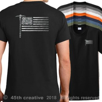 USA Miner Flag Shirt