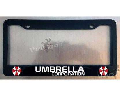 umbrella corp license plate frame