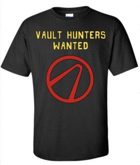 Vault hunter logo T shirt Gifts for Borderlands Fans