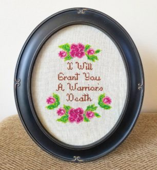Funny nerd quote cross stitch framed