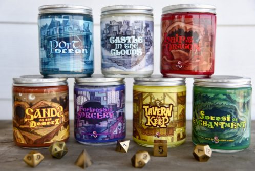wwheel of flames nerdy candle set