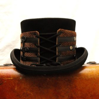 steampunk apparel cosplay top hat with belts