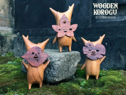 Wooden Korok Sculptures