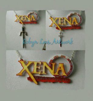 Xena logo necklace