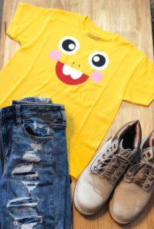 Yellow Dino Dinosaur Shirt