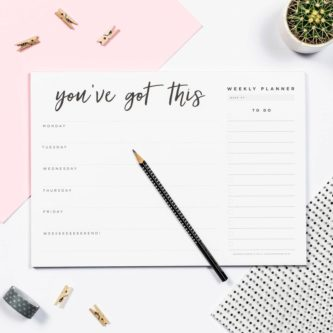 You've Got This Weekly Desk Planner Pad