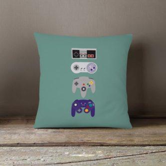 video game controller throw pillow