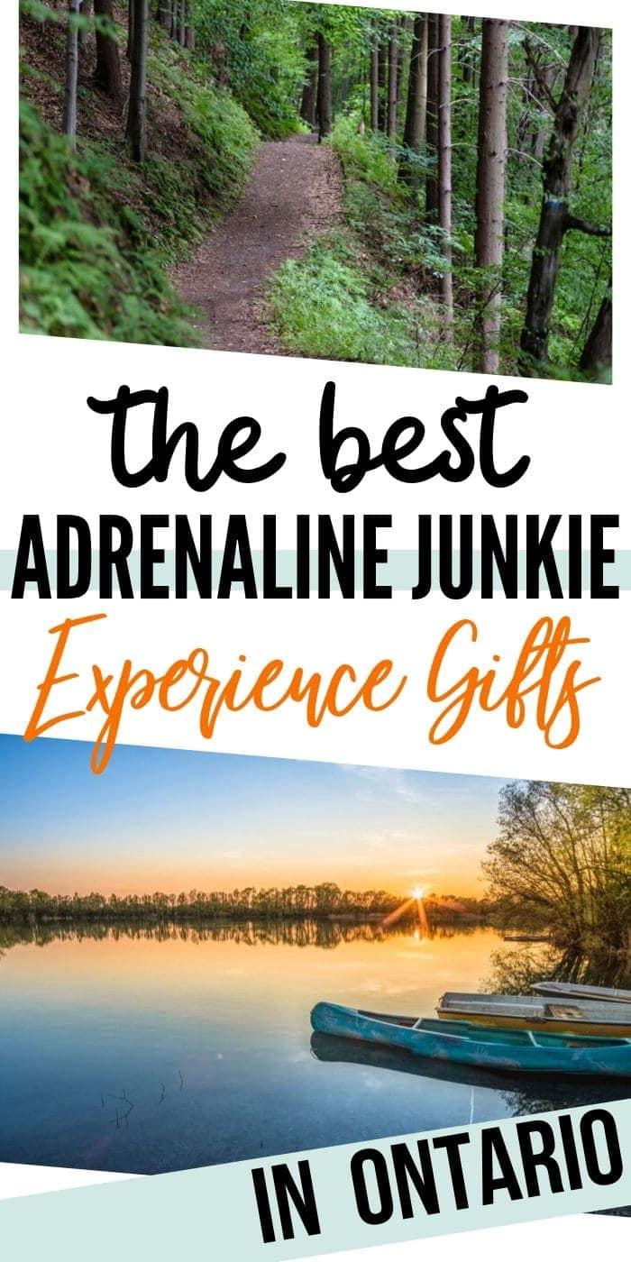 Adrenaline junkie experience gifts in Ontario