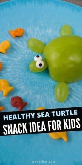 Healthy Sea Turtle Snack Idea for Kids | Snacks For Kids | Snacks Kids Will Actually Eat | Healthy Snack Ideas | Adorable Snacks For Kids | Children Snacks | Creative Snacking | #kids #snacks #easy #healthy #fruit #adorable #uniquegifter