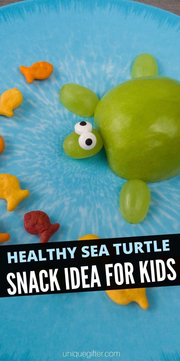 Healthy Sea Turtle Snack Idea for Kids   Snacks For Kids   Snacks Kids Will Actually Eat   Healthy Snack Ideas   Adorable Snacks For Kids   Children Snacks   Creative Snacking   #kids #snacks #easy #healthy #fruit #adorable #uniquegifter