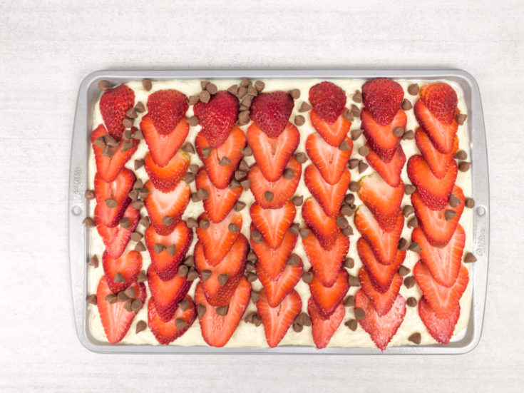 Strawberry Chocolate Sheet Pancake for Mother's Day
