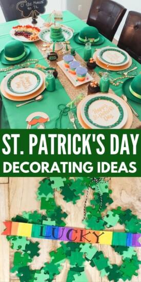St. Patrick's Day Decorating   St. Patty's Decorating   St. Patrick's Decorating Ideas   Tips for Holiday Decorating   Awesome Decorating Tricks for St. Patrick's Day   St. Patrick's Day Decor   #st.patricksday #stpattys #holidaydecor #diydecor #decoratinghacks