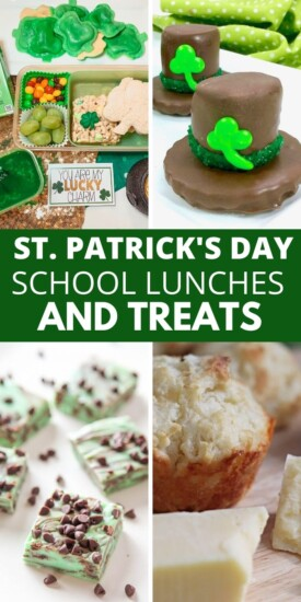 St. Patrick's Day School Lunch Ideas & Treats